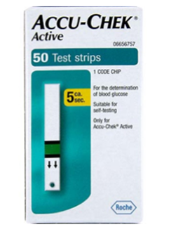 active test strip box