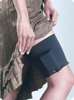 Insulin pump thigh pouch