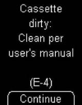 Accu-Chek Mobile - E4 - Cassette dirty