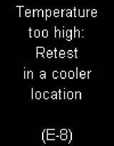 Accu-Chek Mobile - E8 - Temperature too high