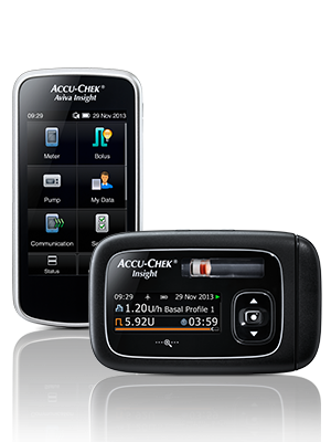 Accu-Chek Insight pump and handset