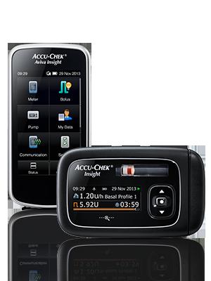 Accu-Chek Insight pump and handset