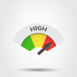 arrow pointing to high on a gauge