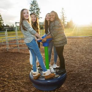 Preteen girls playground outside wcms